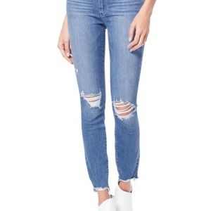 NEW PAIGE Transcend Hoxton Ripped High Waist jeans